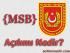 msb nedir, msb açılımı, msb anlamı, msb ne demek